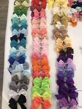 Girls Pretty Handmade Medium unicorn fairy butterfly cute bunny Hair Bows Clips