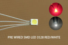 DT3528RW 20pc Pre-soldered litz wired leads Bi-color RED/WHITE SMD Led 3528 DUAL