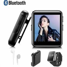 Mini Clip MP3 Player Bluetooth with 1.5 Inch Touch Screen Portable MP3 Music