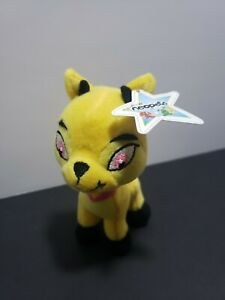 """Neopets McDonald's Yellow Ixi goat plush Star Tag ( A2J)4""""  clean"""