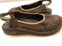 Chaco 7.5 W Brown Leather Closed Toe Sport Sandals Women's Ladies Sandals Shoes
