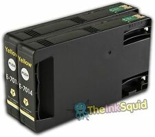 2 Yellow T7014 non-OEM Ink Cartridge For Epson Pro WP-4545DTWF WP-4595DNF
