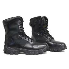 Rocky AlphaForce Zipper Waterproof Black Side Zip Leather Mens Boots 2173 10.5 M