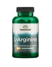 Swanson L-Arginine Maximum Strength 850mg 90 Capsules Blood Flow Cardiovascular