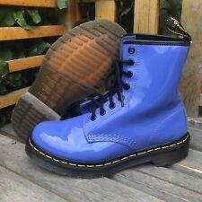 Dr. Doc Martens 8-Eyelet 1460W Purplish-Blue Hightop Laced Boots - Size 6 (US)