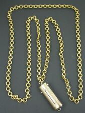 ANTIQUE VICTORIAN PINCHBECK GUARD CHAIN & ETUI C.1840