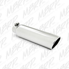 MBRP T5146 304 SS Round Angle Cut Clamp-On Mirror Polished Exhaust Tip