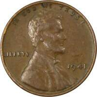 1941 Lincoln Wheat Cent AG About Good Bronze Penny 1c Coin Collectible