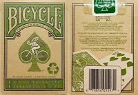 NEW SEALED Bicycle Eco Edition Playing Cards Poker Size Deck Green Recyclable