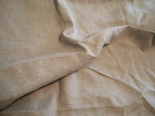 100% Linen Fabric medium sand pebble / wheat  solid color 1 linear yard