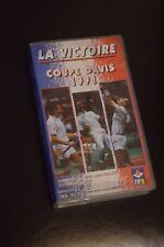 **K7 LA VICTOIRE DE L EQUIPE DE FRANCE TENNIS EN COUPE DAVIS 1991 VHS