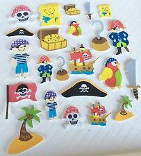 Pirate Foam Stickers x 96