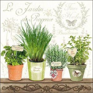 20 Paper Party Napkins Le Jardin Pack of 20 3 Ply Floral Tissue Serviettes