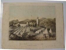 «Vista del campamento de Serrallo y del reducto de Isabel 2ª» 1859. Litografia p