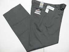Dockers Men's 29x32 Signature Straight Fit Flat Front Khakis Gray Stripe pants