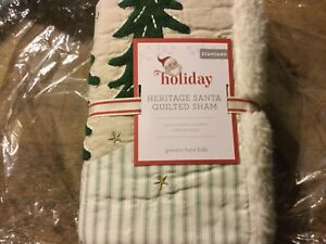 Pottery Barn Kids HERITAGE Santa North Pole Holiday Quilted SHAM Christmas 🎄