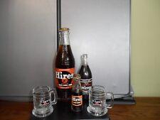 Vintage Hires Root Beer Bottles and Miniature Hires Root Beer Mugs.....EUC