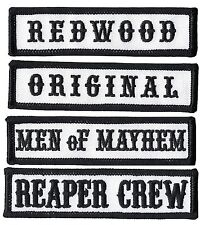Reaper Crew Outlaw Anarchy Biker Vest Jacket Officer Title 4pc Patch Set