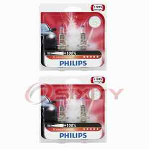 2 pc Philips High Beam Headlight Bulbs for Kia Borrego Forte Forte Koup gy