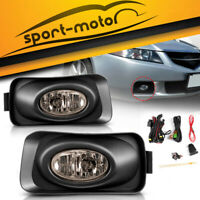 for 2004 2005 Acura TSX JDM Smoke Bumper Fog Light Lamps Assembly Kit Left+Right