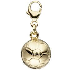 Einhänger Charm Fußball 333 Gold Gelbgold Anhänger Fußballcharm Goldcharm.