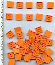 LEGO x 50 Orange Tile 2 x 2 with Groove NEW bulk lot