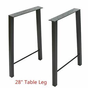 "2pcs Table Legs 28"" Industry Table Leg Metal Steel Chair Bench Desk DIY"