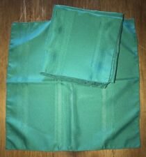 Set of 8 GREEN NAPKINS Wrinkle Free Polyester, Lot