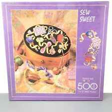 New SEW SWEET Sealed FX SCHMID Jigsaw Puzzle NEEDLEPOINT Quilt 500 Pieces