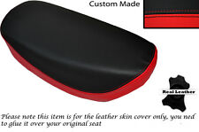 RED & BLACK CUSTOM FITS HONDA DAX CT ST 70 DUAL LEATHER SEAT COVER ONLY