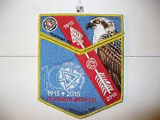 Yustaga Lodge 385,1915 2015,100th Ann OA,Red Sash,Osprey,2 Part Set,GMY Bd,FL,AL