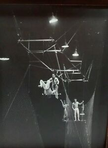 Trapeze Art Photo Shrine Circus Indiana Fair Grounds Signed Wingenroth Vintage