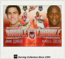 2009 Select NRL Classic Double Trouble Acetate Card DT12 Soward/Sailor-Rare