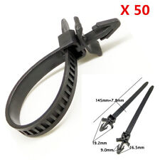 50X Hight Quality Nylon Tie Wrap Car Loom Hose Clamp Fastening Clips Wire Band