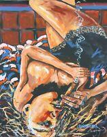 Cohiba Cigar Whiskey Babe Original Art Painting DAN BYL Contemporary Huge 4x5ft