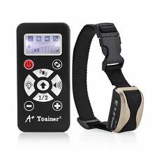 Automatic NO-E-shock A+Tainer Dog Trainer Collar Bark-Remote Train Flash Control
