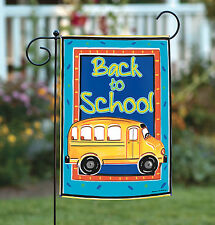 NEW Toland - School Bussin' - Colorful Back To School Bus Garden Flag