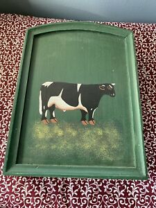 """Rustic Style Cow Painted Key Stoage Box 10"""" X 8"""" Hanging Box"""