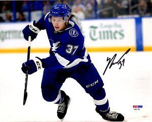 Yanni Gourde autographed signed 8x10 NHL Tampa Bay Lightning PSA COA