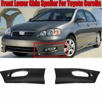 For 2005-2008 Toyota Corolla S XRS Front Lower Body Kit Bumper Lip Cover Spoiler
