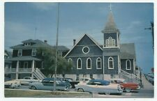 MD ~ Cars at Episcopal Church OCEAN CITY Maryland c1950's Worcester Co Postcard