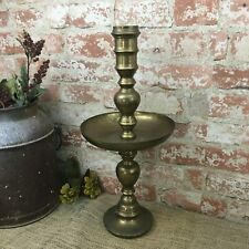Salvaged etched brass large lamp unit or candlestick holder,salvaged brass