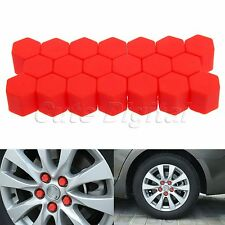 20x 19mm Red Car Wheel Nut  Lug Silicone Hub Covers Screw Dust Protect Caps
