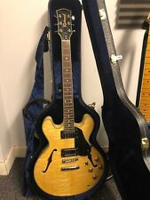 Richwood re-500 semi hollow guitar with USA gibson 57 57 classic plus pickups.
