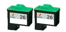 For Lexmark #26 10N0026 Color Ink Cartridges 2-PACK