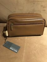 Kenneth Cole Reaction Come Rain or Shine Mens Shave Kit Toiletry Kit BROWN NWT35