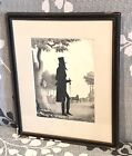 Vintage Antique 1844 William Henry Brown American Silhouette Lithograph Framed