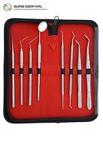 Pro Set Dental Dentist Scaler Tweezers Instruments pick tool kit 5 Yrs Warranty
