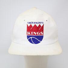 Vtg 90s Sacramento Kings Corduroy Trucker Hat Snapback NBA Basketball Discolored