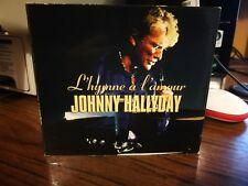 "JOHNNY HALLYDAY  CD édition limitée "" L'hyme à l'amour """